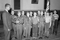 Boy Scout Award Night Doug Dodge Scout Master G'town 1958