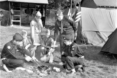 Boy Scouts camp at Col. Cty. Fair 1958