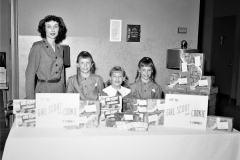 Claverack Girl Scouts with Mrs. Duntz at Columbia Memorial 1958