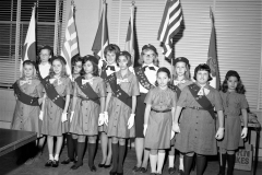Girl Scout Troop 372 at G'town Fire House 1965
