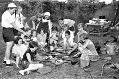 Girl Scouts camping with Mrs. Jeckle G'town 1957