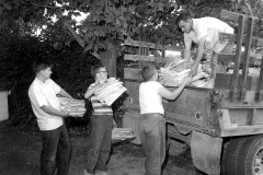 G'town Boy Scout Paper Drive David Webber, Mike Dougherty, Gerald Lasher, Frank Heller driver 1964