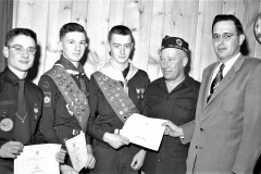 G'town Boy Scouts at Am. Legion with Keith Snyder 1955