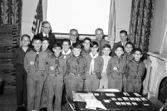 Hudson Boy Scouts at Jewish Community Center 1966