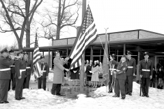 Hudson V.F.W. and  Auxiliary flag dedication at John L. Edwards School 1965 (1)