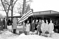 Hudson V.F.W. and  Auxiliary flag dedication at John L. Edwards School 1965 (2)