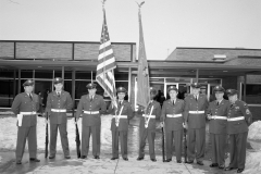 Hudson V.F.W. and  Auxiliary flag dedication at John L. Edwards School 1965 (3)