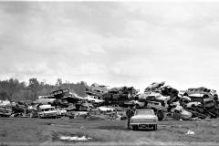 Junk Cars on Front Street Hudson 1969