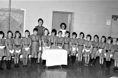 Mrs. Fiore Brownies at Greenport School 1968