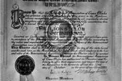 1930 G'town Lions Club Charter