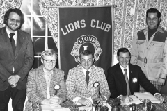 G'town Lions Club Officers G. Snyder, J. Smith, G. Fox, E. Murphy , R. Banks 1976