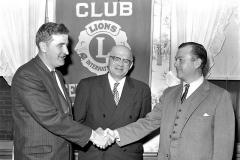 G'town Lions Pres. Donald Bohnsack, Walter Miller Cty. Historian, Albert Callan Jr. of Chatham 1962