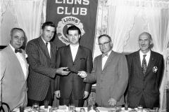 G'town Lions install President Donald Bohnsack 1961