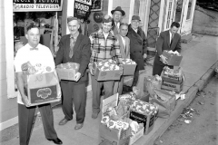 Lions Club distribute Xmas baskets G'town 1957